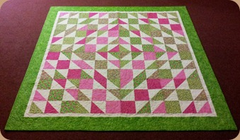 Hawiian charm squares quilt completed