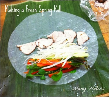 Many Waters Making a Fresh Spring Roll