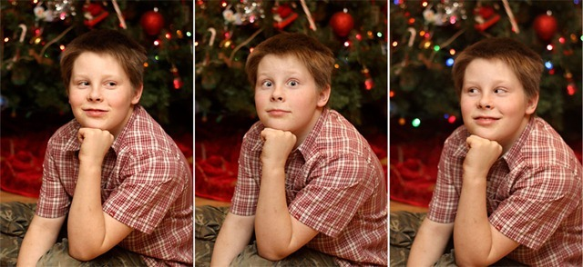 Nathan by the tree triptych