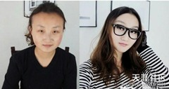 chinese girls makeup before and after  (25)