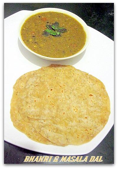 masala dal & bhakri