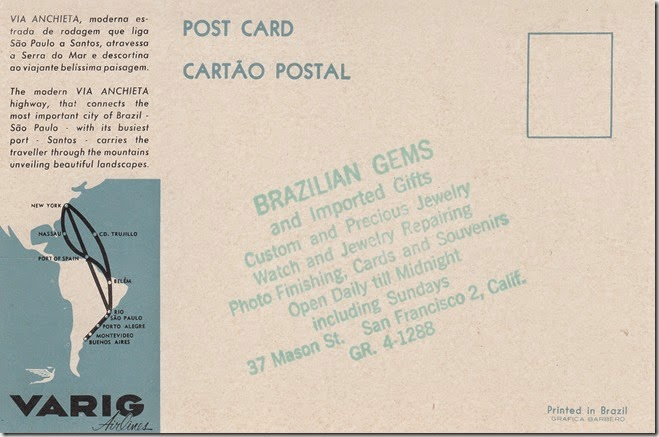 Via Anchieta Highway, Brazil Postcard pg. 2