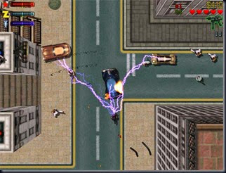 GTA 2  - Playstation - Vista aérea