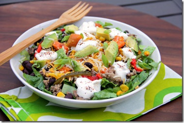 Charred Corn Chop Salad