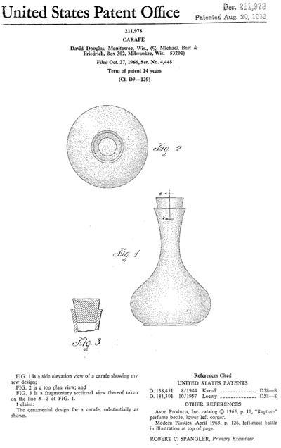 David Douglas Thermware carafe patent