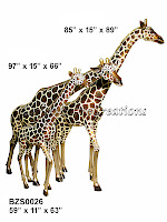 Family of Three Giraffes