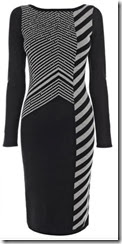Karen Millen Chevron Knit Dress