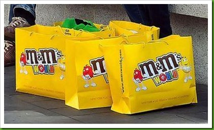 M & M's World bags