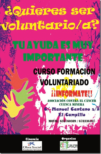 Cartel curso voluntariado