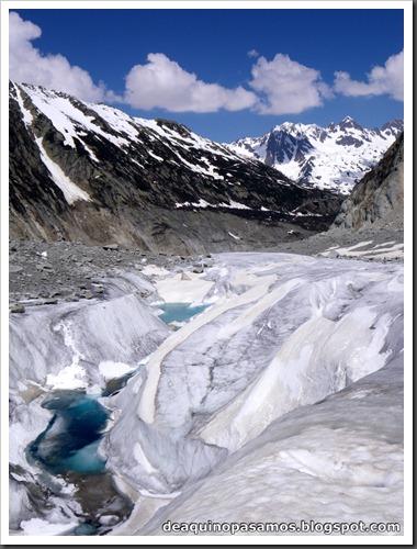 Descenso del Valle Blanco esquiando (Chamonix, Alpes) 5405