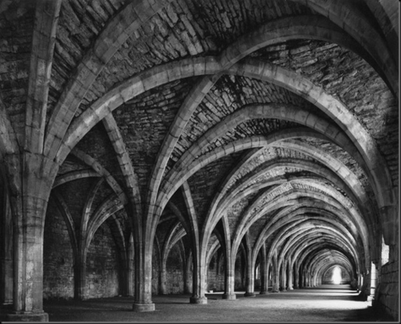 Lay Brothers Refectory, Fountains Abbey, 1980