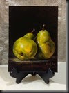 Leaning Pears Easel