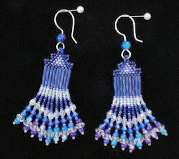 Crystal Blue Earrings