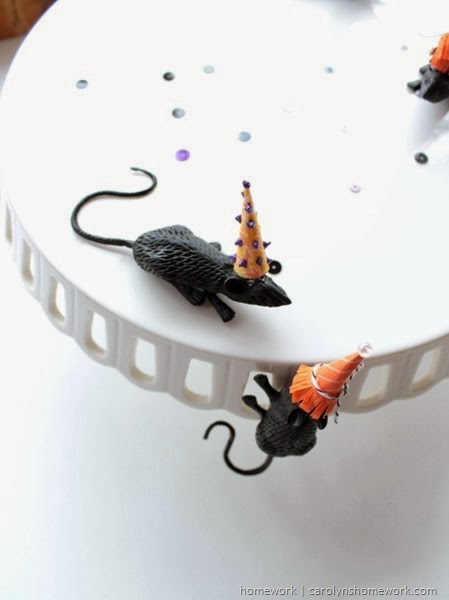 Halloween Rats with Party Hats via homework | carolynshomework.com