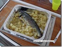 Lampuga con patate al forno