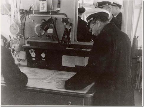 Lehmann in navigation room