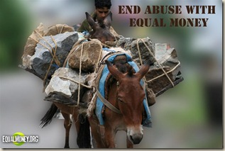 End abuse with equal money (Large)