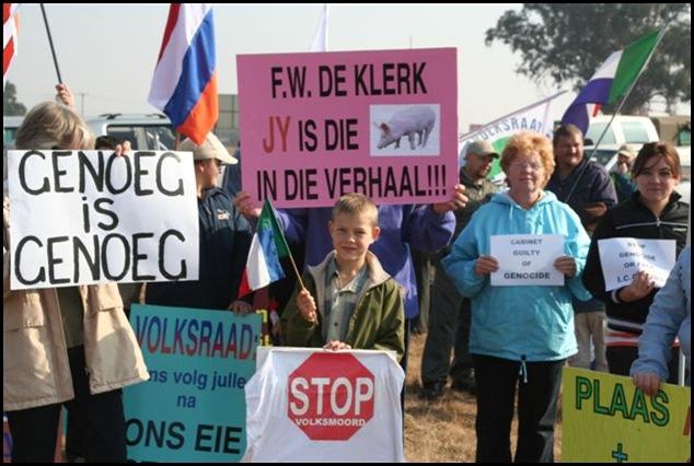 Afrikaners 6DemoAgainstFarmMurders Delmas May312012