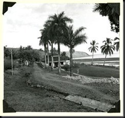 Guard house and cell-block, la Central, Coiba Island, 1956