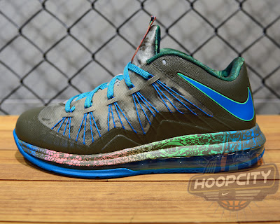 nike lebron 10 low gr black turquoise blue 1 08 Surprise, Surprise... Nike Air Max LeBron X Low Tarp Green