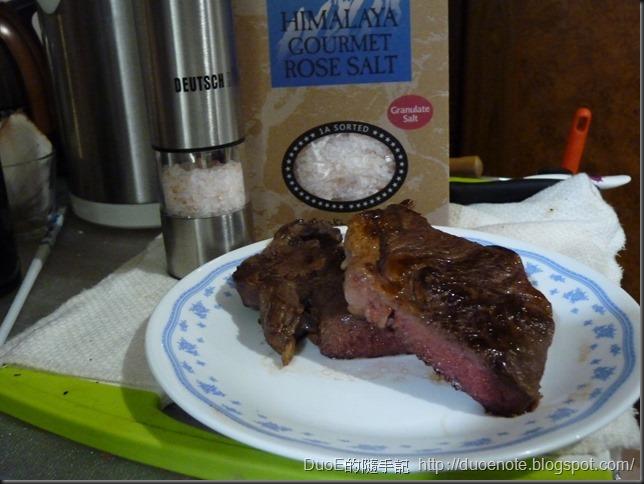 沙朗心牛排+喜瑪拉雅玫瑰岩鹽