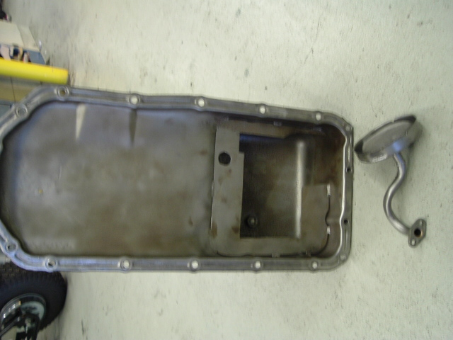 deep sump pan and windage tray for a 65-66 GS Skylark.