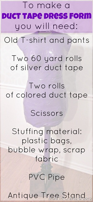 duct tape dress form materials