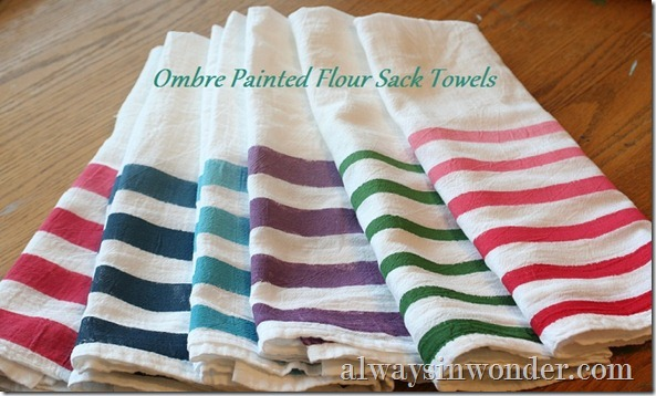 Ombre_painted_flour_sack_towels with title
