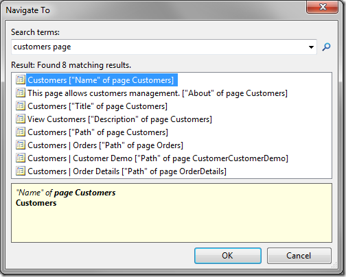 Page located in the configuration navigator.
