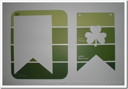 Shamrock Paint Chip Banner Tutorial Step 1