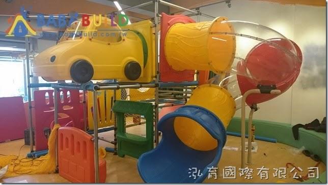 BabyBuild 室內3D泡管兒童遊具尼龍網施工