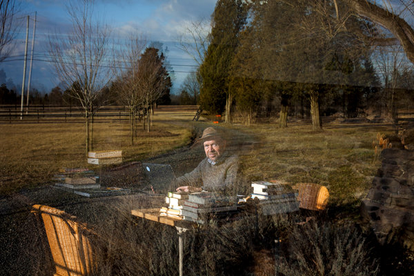 James E. Hansen of NASA, who retired in 2013 to fight global warming with activists, reflected in a window at his farm in Pennsylvania. Photo: Michael Nagle / The New York Times