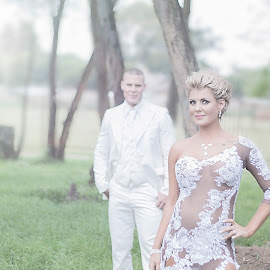 Will forever stand behind you by Stefan van Deventer - Wedding Bride & Groom ( love, amazing, power couple, truelove, wedding, dress, couple, beauty )