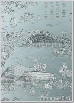 Стекло и зеркало  химического травления SMC-002 Qing Ming Shang He Painting