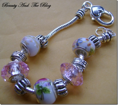 Pink And White Beaded Bracelet From Charm Factory