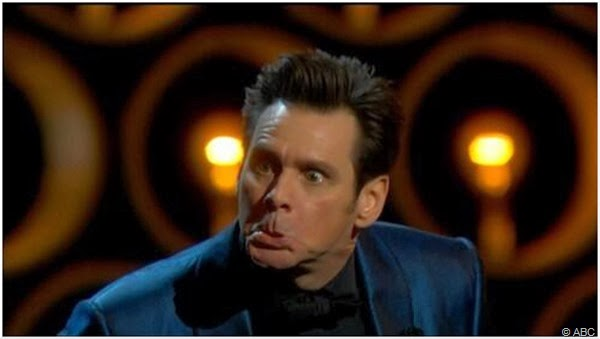 Jim Carrey and his tired shtick at The Oscars.