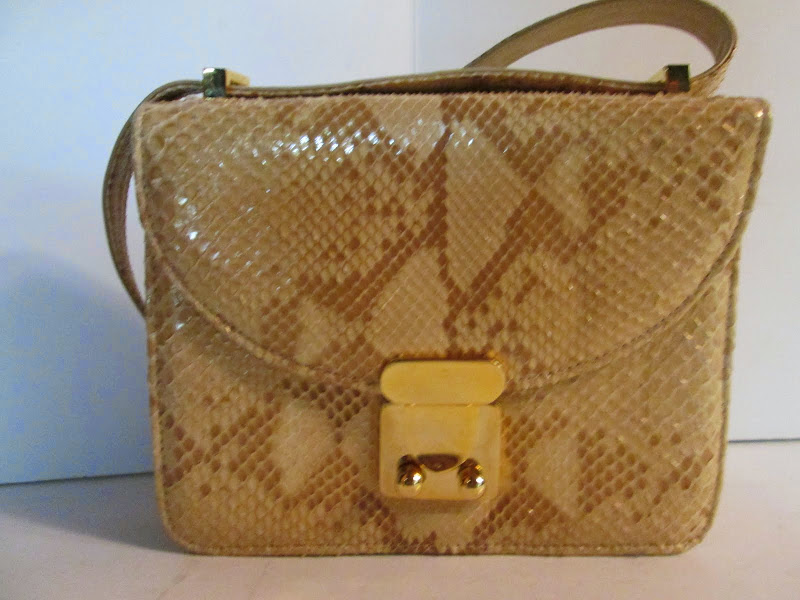 Stuart Weitzman Beige and Gold Evening Bag