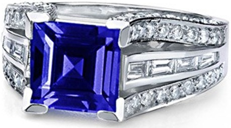 Square-Tanzanite-and-Diamond-Ring-in-14k-White-Gold_SR0340TH
