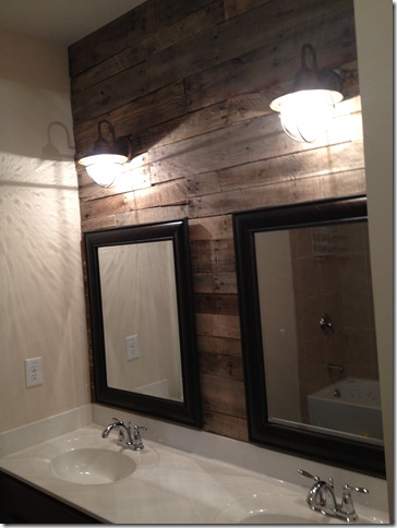 How sweet it is pallet accent wall - Wooden pallet accent wall ...