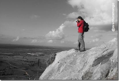 Fotografando do alto da Pedra do Jacaré