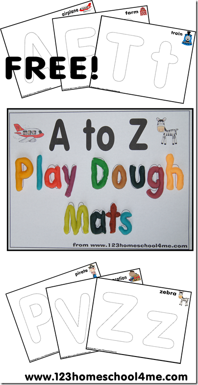 Playdough Mats - Alphabet Letters from A to Z