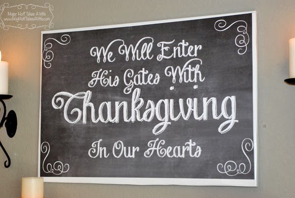 Thanksgiving wall art printable