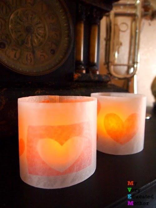 valentineheartluminaries #kidscrafts #ValentinesDayCrafts #luminaries #papercrafts