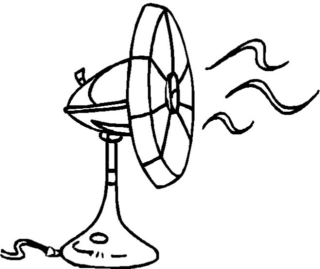 A Sketch Of A Electric Fan : Dibujos de ventilador para imprimir
