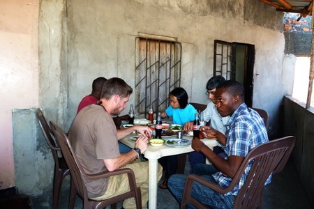 Lunch in Lusaka.