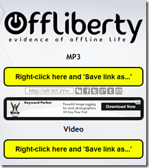 Bajar videos con OffLiberty