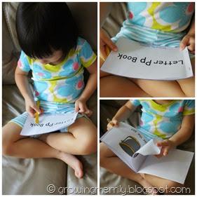 Letter P Minibook