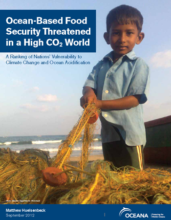 Cover of the Oceana report, 'Ocean-Based Food Security Threatened in a High CO2 World' by Matthew Huelsenbeck, September 2012. oceana.org