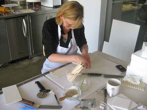 Cake designer Wendy Kromer working her magic in the kitchen.
