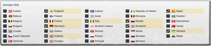 Football Manager 2013 - Leagues Choice